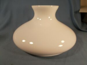 Antique-10-034-White-Milk-GLASS-TAM-O-SHANTER-Oil-Lamp-Shade-or-Electric-shade