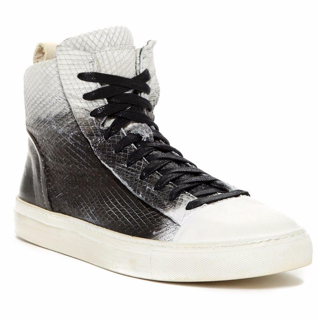 New in Box -  598 John Varvatos Collection 315 Raw Edge Leather Hi Top Size 12