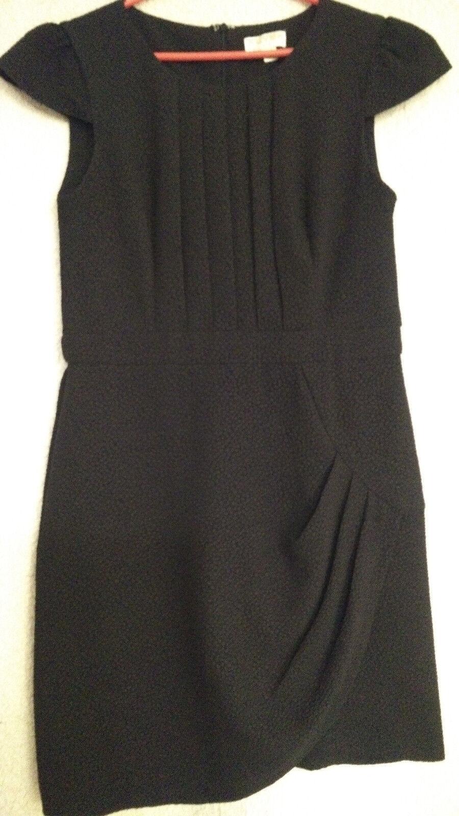 Gr 38/40 schickes Kleid schwarz schön drapiert neuwertig Maße beachten