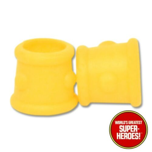 """Mego Conan Yellow Wrist Guards Reproduction For 8"""" Action Figure WGSH Parts Lot"""