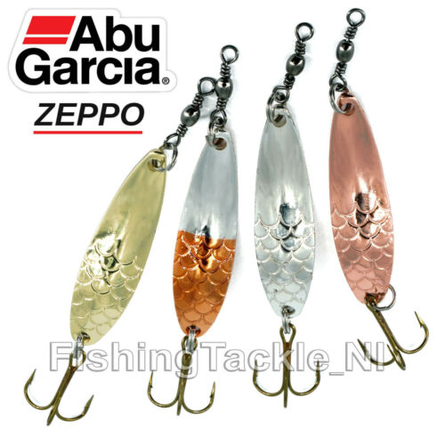 Abu Garcia Zeppo Spoon Fishing Lures 8g//12g//16g Silver////Copper//Gold Trout Lure