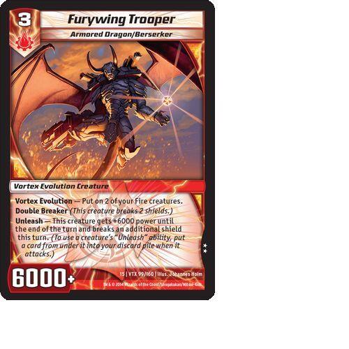 Kaijudo X1 FURYWING TROOPER Uncommon #99//160 15VTX Vortex DUEL MASTERS 2014