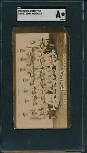 1913-T200-Fatima-Cigarettes-Team-Cards-St-Louis-Nationals-8-SGC-Authentic