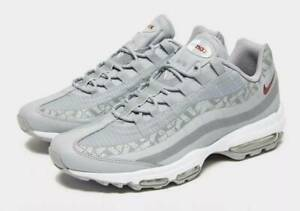 NIKE AIR MAX 95 ULTRA WOLF GREYRED CRUSH SIZE MEN'S 8.5
