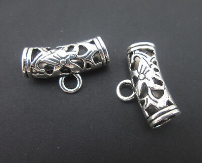 20x Tibetan Silver Tone Dangle Bails Connectors For Charms Jewelry Pendants