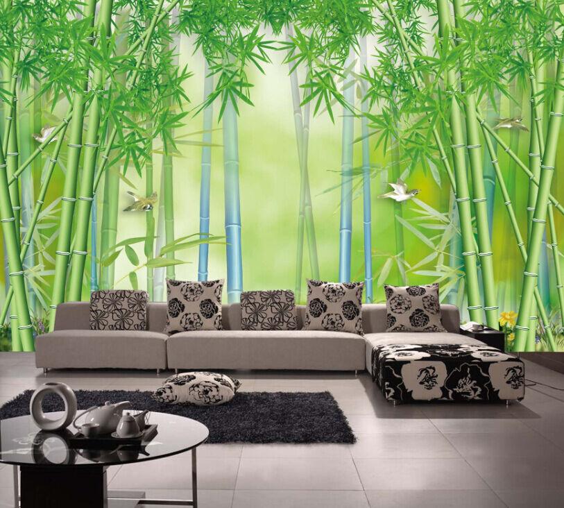 3D Bambus, Vögel 05584  Fototapeten Wandbild Fototapete BildTapete Familie DE