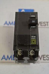 Square D QOB230 30 Amp 2 Pole Bolt-On Circuit Breaker 120//240v 10kA NEW