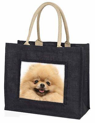 creme westpommern-hund große schwarze Einkaufstasche Weihnachten Geschenkidee,