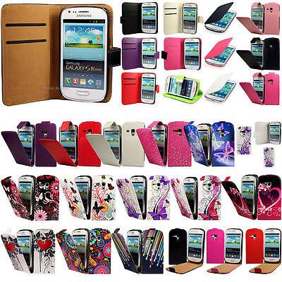 Samsung Galaxy S3 Mini i8190 Tasche Flip Case Cover Schutz Hülle Etui Schale