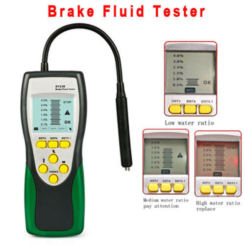 LCD Brake Fluid Tester Auto Car Vehicle Automotive Diagnostic Tools For DOT3 4 5