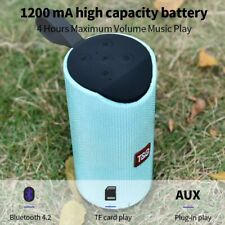 Portable Outdoor Wireless Bluetooth Speaker Boombox Bass Stereo Cylinder  Tg113