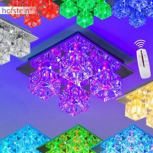 design led rgb farbwechsel deckenleuchte mit fernbedienung lampe deckenlampe ebay
