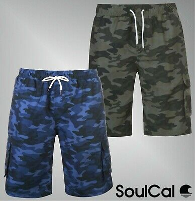 Humorvoll Mens Soulcal Mesh Lining Elasticated Waist Cargo Board Shorts Sizes From S To Xl Freigabepreis