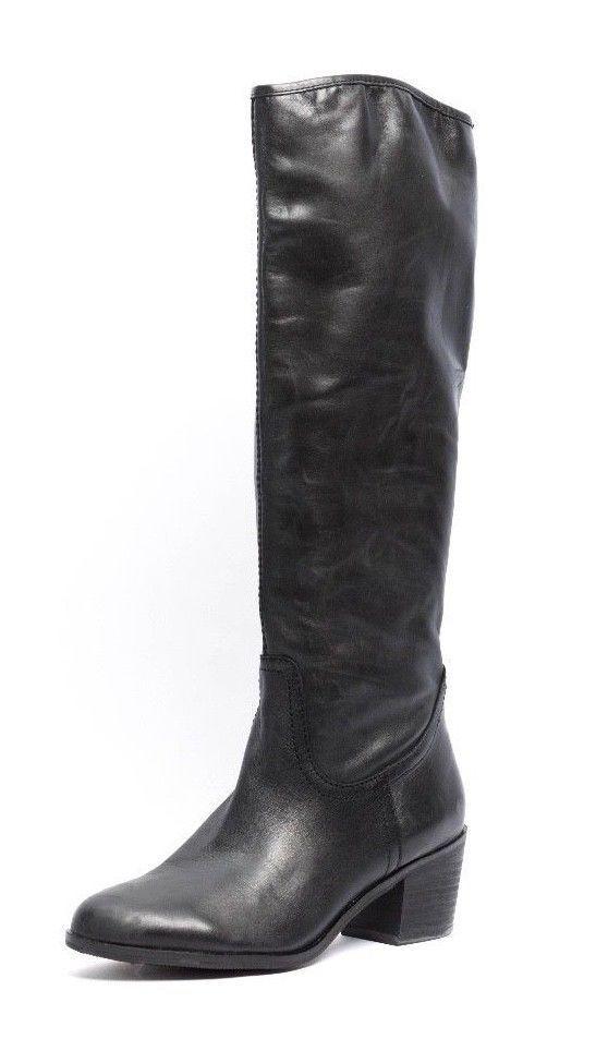 ottima selezione e consegna rapida Sam Edelman Loren donna Dimensione 7 M M M nero Leather Knee High stivali  negozio a basso costo