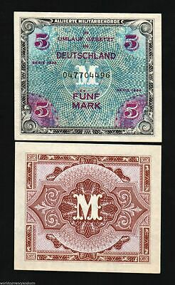 GERMANY 1 MARK 1944 UNC P-192b ALLIED MILITARY PAYMENT WORLD WAR II