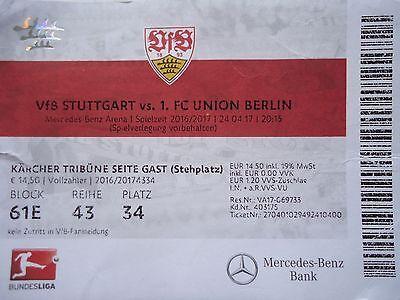 Union Berlin TICKET 2 BL 2016//17 Braunschweig