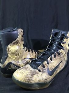 watch eb903 09cc8 Image is loading Nike-Kobe-9-High-EXT-Snakeskin-Size-11