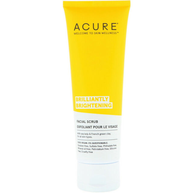 Brilliantly Brightening Facial Scrub 4 Oz By Acure For