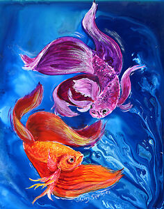 BETTA-DANCE-Original-12x16-Art-FISH-Painting-Sherry-Shipley