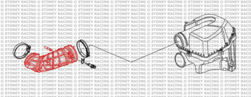 Stoney Racing Honda Civic Type-R 2.0 EP3 silicone d/'admission d/'air Kit Flexible ctr rouge