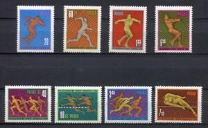 35732) Poland 1966 MNH European Athletic Championships 8v