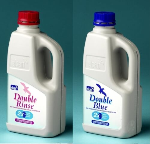 Elsan 1L Double Blue /& Elsan 1L Double Pink RinseToilet Chemical Twin Pack