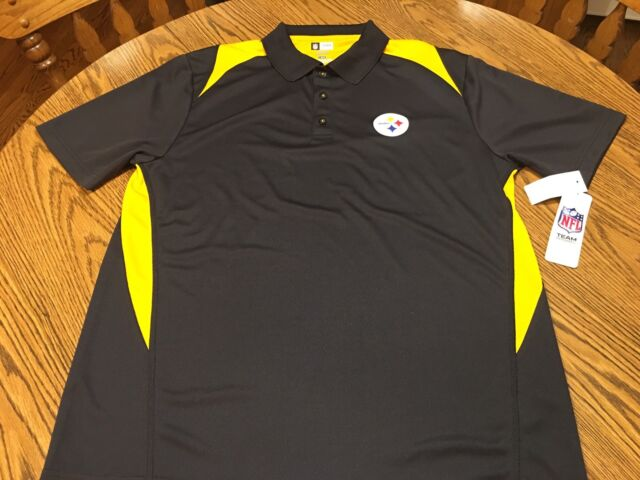 Pittsburgh Steelers NFL Men s Tx3 Cool Black Polo Shirt Size Large ... 48498e7f9