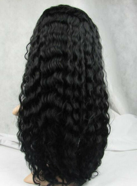 """12"""" -24"""" water wave 100% indian remy human hair front lace wigs 1#1b#2#4#1b/30#"""