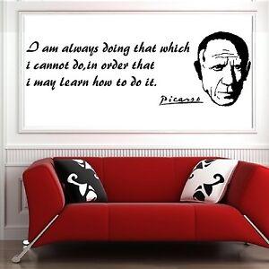 Picasso Vinyl Wall Art Sticker Decal Mural Ebay