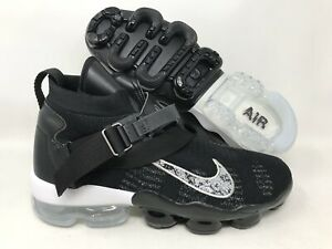 91aa4bcf8e344 Image is loading NIKE-AIR-VAPORMAX-PREMIER-FLYKNIT-BLACK-METALLIC-SILVER-