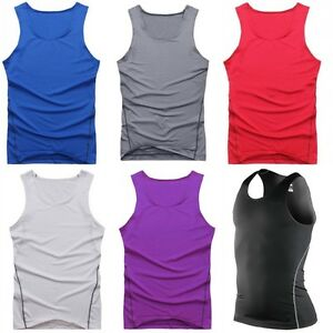 4c73b5b86e9ae Details about New Men's Basketball SPORT Dri-Fit Workout Sleeveless Running  T-SHIRT TIGHTS