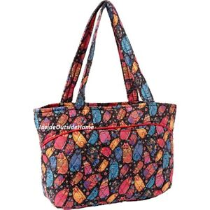 bb97e64acb8 Image is loading Laurel-Burch-Medium-Tote-Bag-Quilted-Cats-Feline-