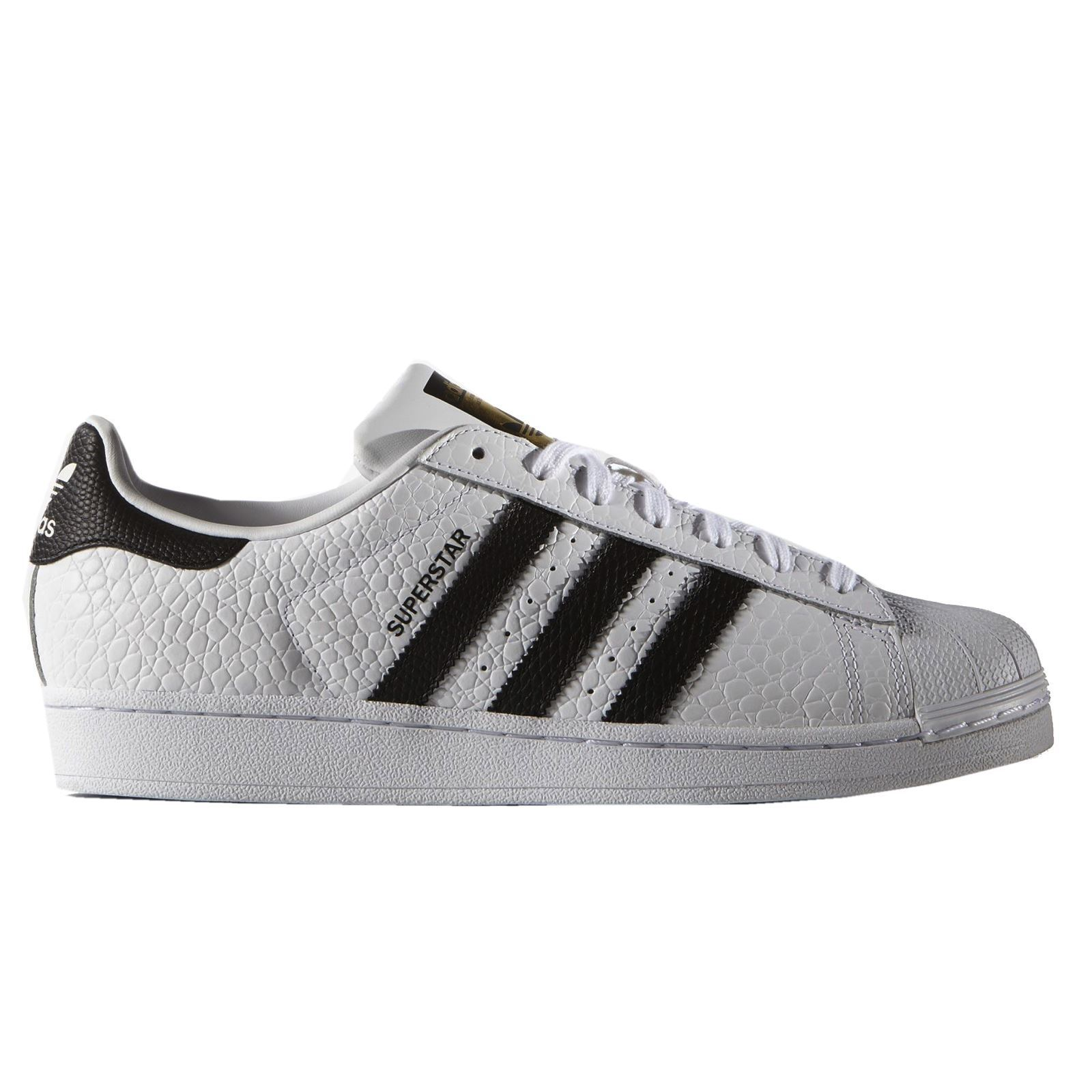 Adidas Superstar animal Blanco Negro Trainers Hombre Trainers Negro f210c7