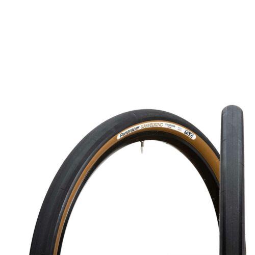 Panaracer GravelKing Slick TLC Folding Gravel Bike Tyre Black Brown 700 x 38c