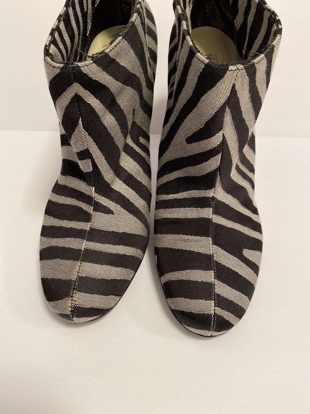 Stella McCartney Zebra Striped Boots Size 36 - image 3