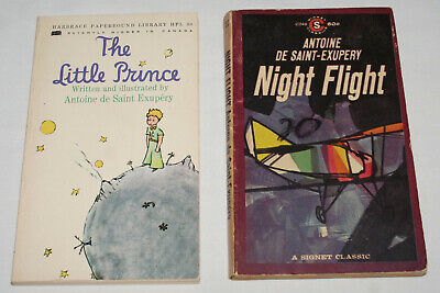 2 Antoine De Saint Exupery Paperback Books The Little Prince Night Flight Ebay