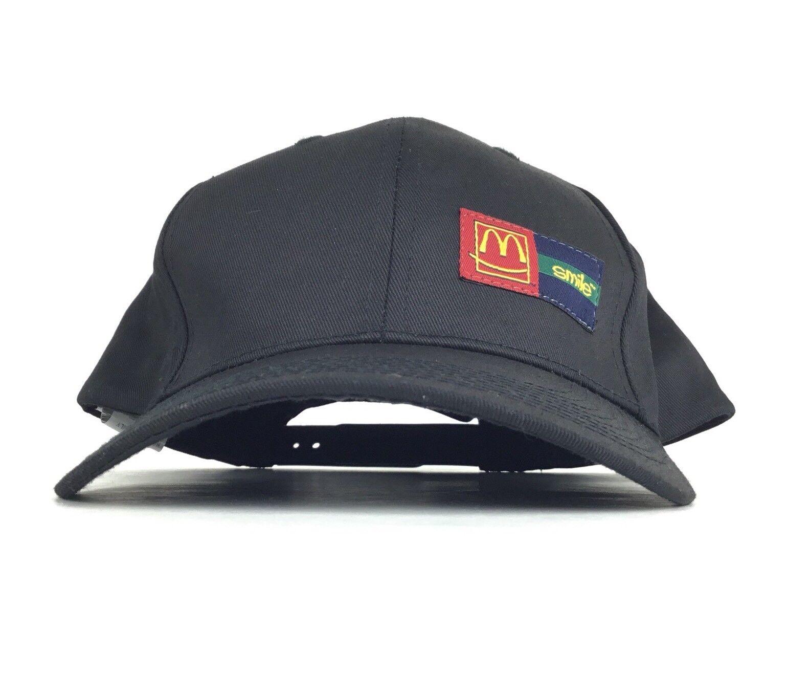 McDonalds Burger Restaurant Hat Smile Golden Arches Logo Baseball Cap Hat Restaurant Adj Adult 8a77c1