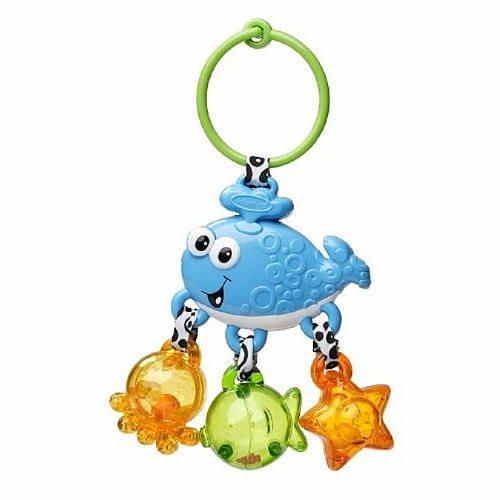 Infantino Link and Jingle Activity Rattle  Blue Whale