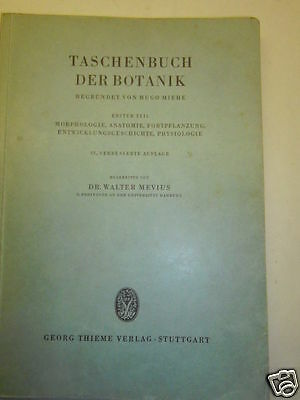 BOTANIK -Taschenbuch der BOTANIK 1959 Morphologie Anatomie Physiologie