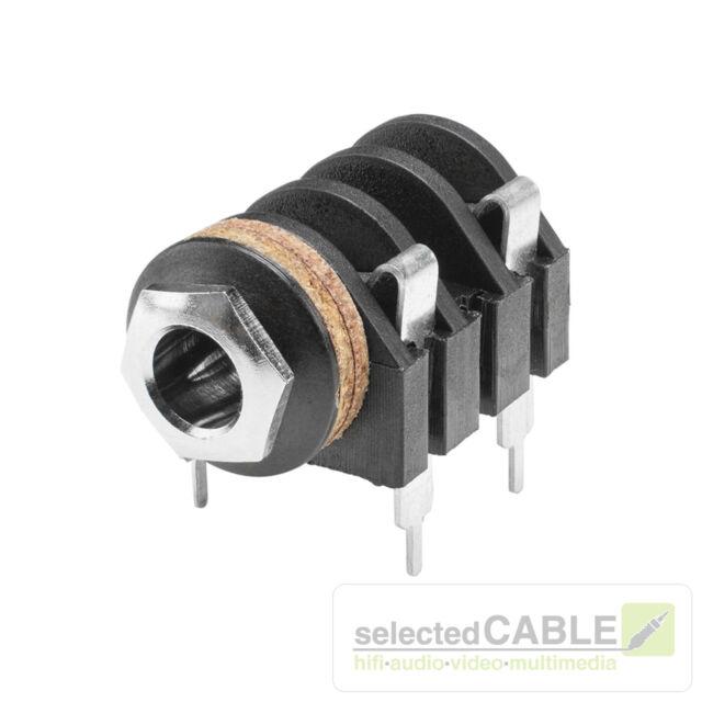 HICON 6,3mm Klinke 2-pol Einbaubuchse horizontal Löttechnik Audio | HI-J63M-PHM