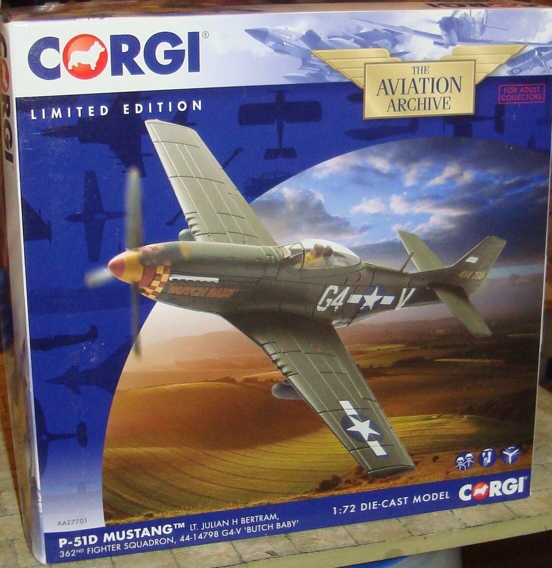 Precio por piso Corgi-P-51D Mustang - - - 362 Sqn, 44-14798 G4-V  Butch Baby' -1 72 - Ltd Edition  a la venta