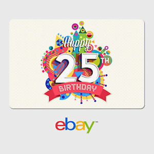 ebay digital gift card happy 25th birthday fast email delivery ebay. Black Bedroom Furniture Sets. Home Design Ideas