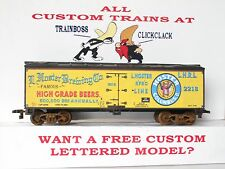 HO CUSTOM LETTERED HOSTER BEER FREIGHT CAR BOXCAR REEFER LOT 7
