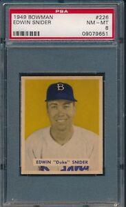 1949-Bowman-Baseball-Duke-Snider-R-226-PSA-8-DODGERS-NM-MT-HOF