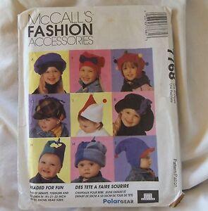 b23e73947f3 Image is loading McCalls-7768-Kids-Infants-Toddlers-Childs-Fleece-Hat-