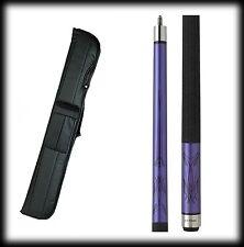 New Action KRM02 Pool Cue Stick - Purple Metallic Khrome 18 - 21 oz & Case