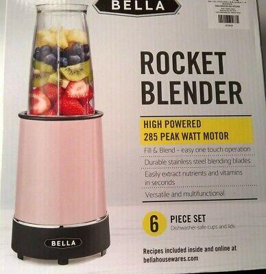 Bella Pink Rocket Blender 6 Piece Set New Ebay