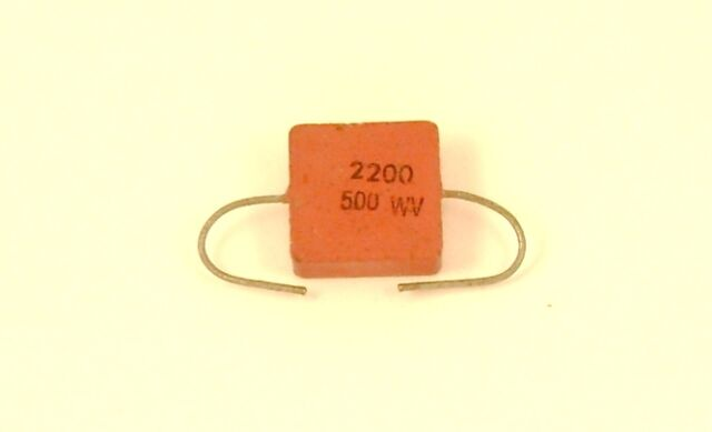 2200pF 500v SILVER MICA CAPACITOR LOT OF 2