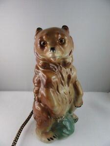 J907-Air-Cleaner-Porcelain-Figurine-Braun-Bear-7-1-2in-Signed