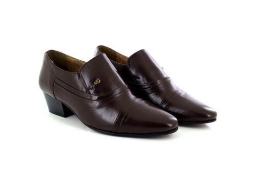 Scarpe Pelle Tacco Marrone Lucini Uomo Slip On 26287 Formali Eleganti 7v8nTngq